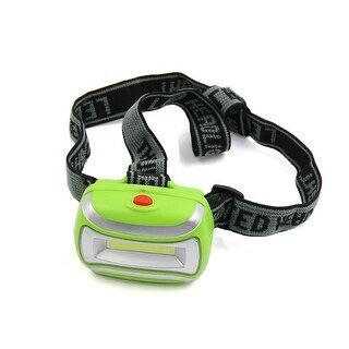 Unique BargainsGreen Plastic Shell 3 Modes COB Headlight Lamp w Headband for Outdoor Camping