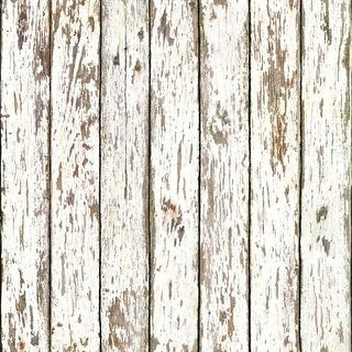 Brewster FFR13281 White Weathered Wood Wallpaper