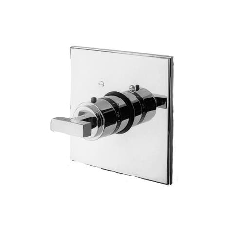 Newport Brass 3-2024TS Single Handle Square Thermostatic Valve Trim with Metal Lever Handle from the Colorado and Cube 2