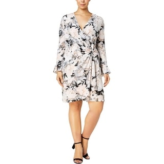 8bbe5590eb7 Shop Calvin Klein Womens Plus Wrap Dress Floral Print Knee-Length - 1X -  Free Shipping Today - Overstock - 25454707