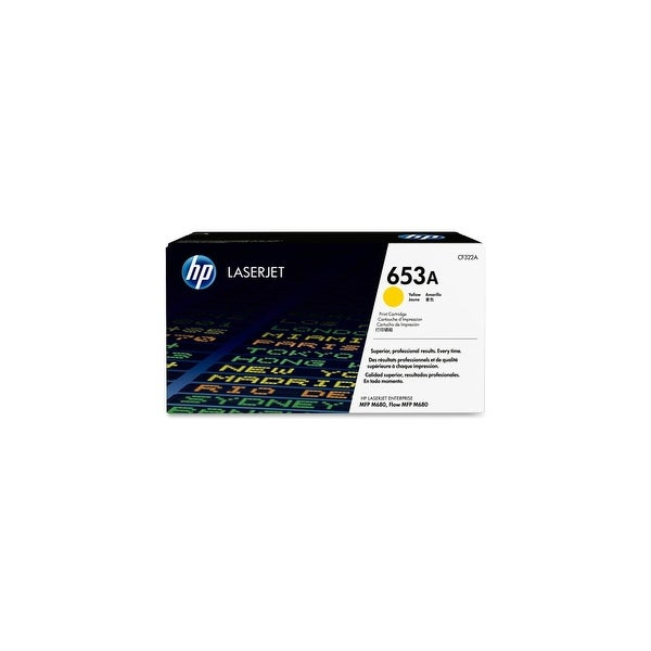 HP 653A Yellow Original LaserJet Toner Cartridge (CF322A)(Single Pack)