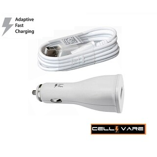 Cellvare Car (AFC) for Samsung Galaxy S7/S7 Edge/S6/S6 Edge Adaptive Fast Charging w/Micro USB Cable