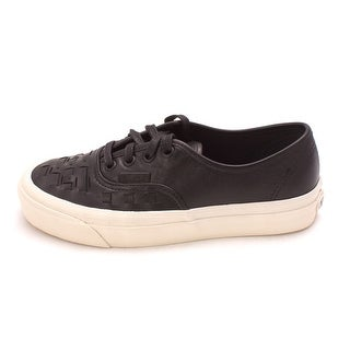 Vans Womens Authentic Weave D Leather Low Top Lace Up Fashion Sneakers