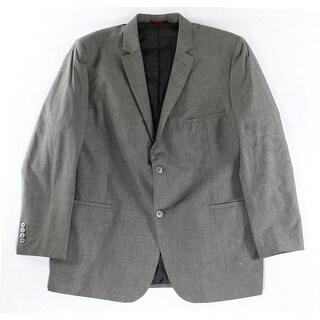 Alfani NEW Chambray Gray Mens Size XL 46-48 Slim Fit Two Button Blazer