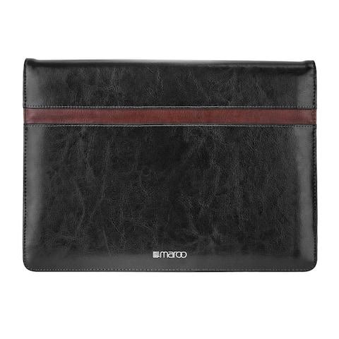 Maroo Leather Folio Case for Microsoft Surface Pro, Black