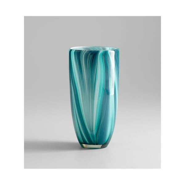 """Cyan Design 5181 10.25"""" Small Turin Vase - Turquoise blue - N/A"""