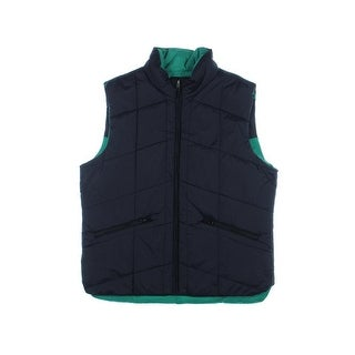 Nautica Mens Quilted Zip Front Outerwear Vest