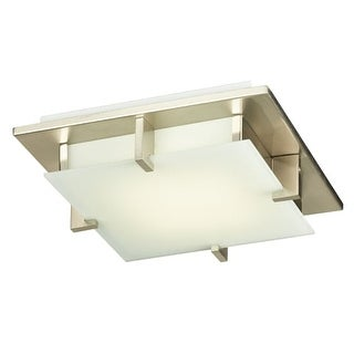 "PLC Lighting 906LED Polipo Single Light 12"" Wide Integrated LED Flush Mount Ceiling Fixture"