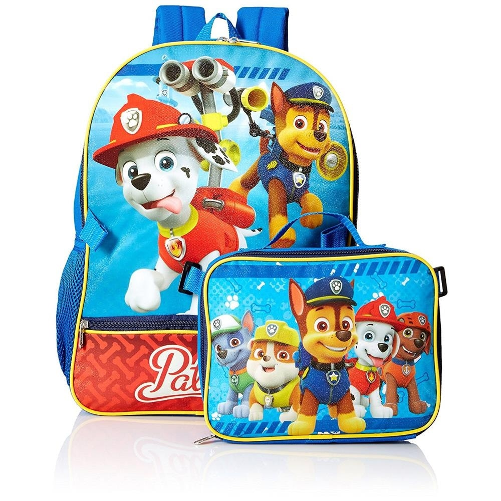 93a03433cc6 Shop Nickelodeon Boys Paw Patrol Backpack Lunch Bag Set - Free Shipping On  Orders Over  45 - Overstock - 19432908