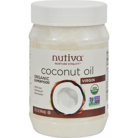 Nutiva Virgin Coconut Oil Organic - 15 fl oz