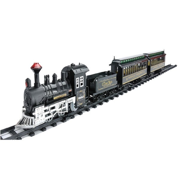 14-Piece Battery Operated Lighted & Animated Classic Train Set with Sound