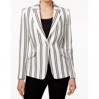 Tahari By ASL NEW White Ivory Women's Size 6 Striped Knit Blazer