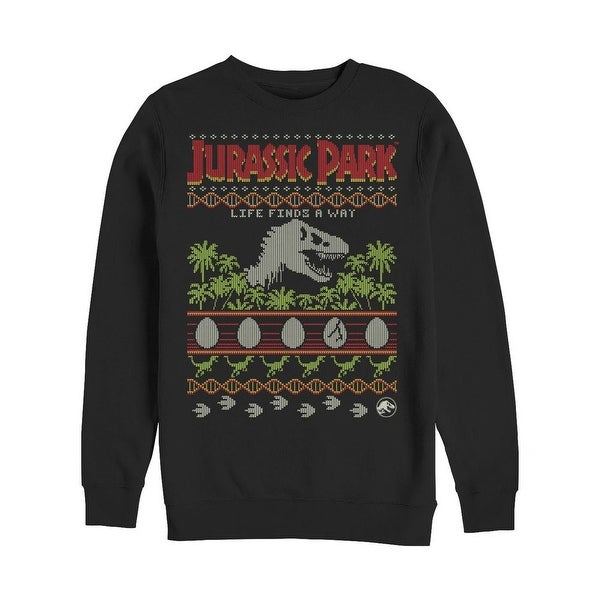 Shop Jurassic Park Ugly Christmas Knit Crew Sweatshirt Free
