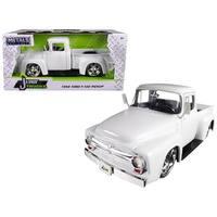 1956 Ford F-100 Pickup Truck White Just Trucks 1/24 Diecast Model Car by Jada