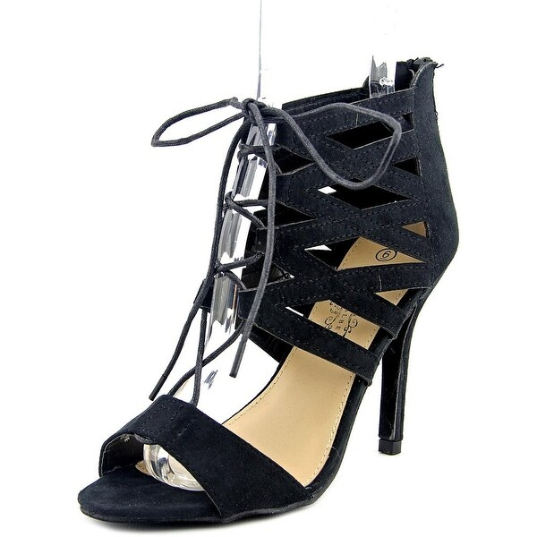 Charles Albert Melissa Women Peep-Toe Synthetic Black Heels