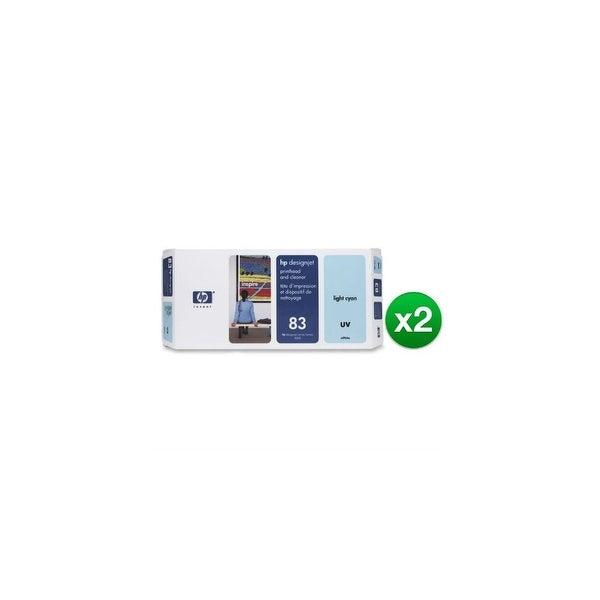 HP 83 Light Cyan DesignJet UV Printhead & Printhead Cleaner (C4964A) (2-Pack)