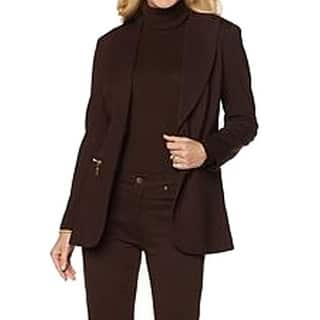DG2 By Diane Gilman NEW Brown Womens Size XS Ponte Boyfriend Blazer|https://ak1.ostkcdn.com/images/products/is/images/direct/0f008561af10eaa12017cbcda0cf2aa26e410949/DG2-By-Diane-Gilman-NEW-Brown-Womens-Size-XS-Ponte-Boyfriend-Blazer.jpg?impolicy=medium