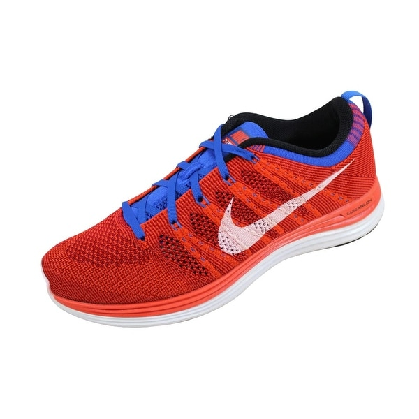 fabb6b4b1246 Shop Nike Men s Flyknit One+ Team Orange White-Game Red-Game Royal ...