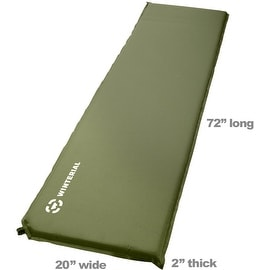 Winterial Lightweight Self-Inflating Backpacking and Camping Sleeping Pad / Sleeping / Camp / Hiking / Travel / Green