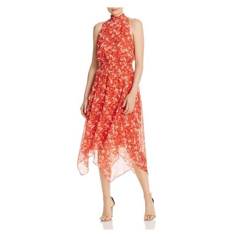 SAM EDELMAN Red Below The Knee Dress 10