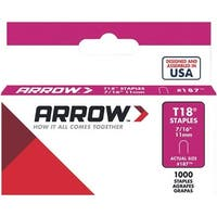 "Arrow Fastener 7/16"" Staple 187 Unit: EACH"