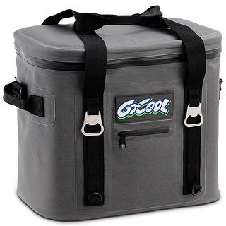Gymax Insulated Lunch Box Lunch Bag 24-Can Soft Cooler Bag Water-Resistant Leakproof
