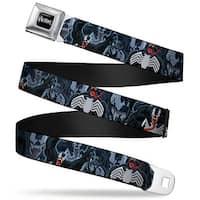 Marvel Universe Venom Full Color Black White Venom Poses Stacked Webbing Seatbelt Belt