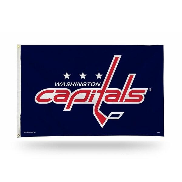 3' x 5' Blue and Pink NHL Washington Capitals Rectangular Banner Flag - N/A