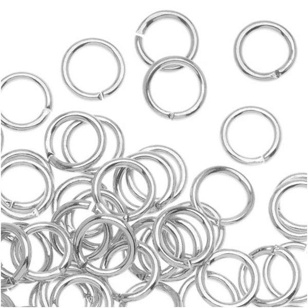 Silver Plated Open Jump Rings 5mm 20 Gauge (x100)