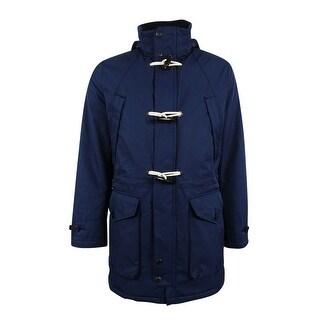 Nautica Men's Weather-Resistant Hooded Toggle Coat - Mood Indigo