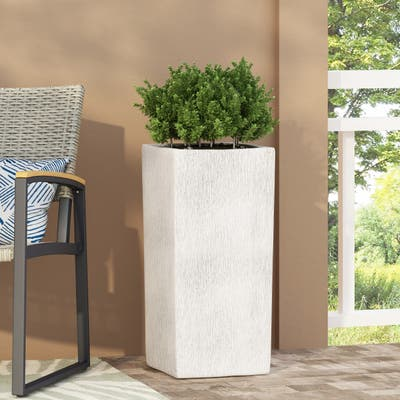 Hartselle Outdoor Cast Stone Outdoor Planter by Christopher Knight Home