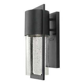 """Hinkley Lighting 1320 15.5"""" Height 1 Light Dark Sky Outdoor Wall Sconce with Clear Seedy Shade from the Shelter Collection"""