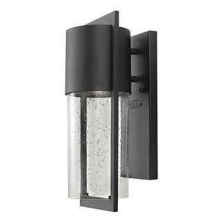 """Hinkley Lighting 1320 15.5"""" Height 1 Light Dark Sky Outdoor Wall Sconce with Clear Seedy Shade from the Shelter Collection (3 options available)"""