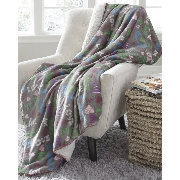 Clarisse Youth Throw Blanket in Grey. Opens flyout.