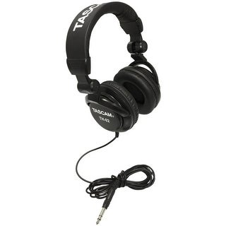 TASCAM TH02-B Closed-Back Stylish Multi-Use Studio Grade Headphone (Black)