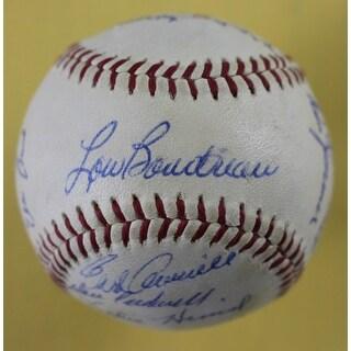 1960 Chicago Cubs Autographed ONL Baseball Ernie Banks Durocher Zimmer 18 JSA