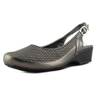 FootSmart Trudy Slingback Women  Round Toe Synthetic Gray Slingback Heel