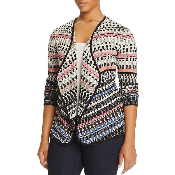 Shop Nic Zoe Womens Plus Cardigan Sweater Printed Open Front