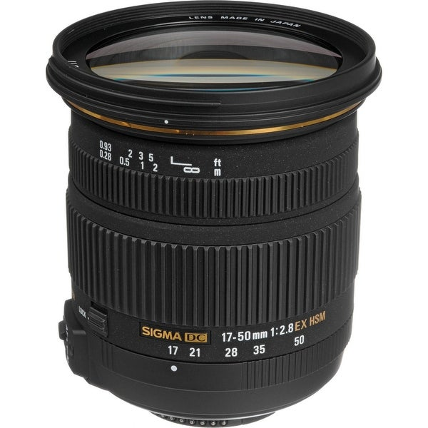 Sigma 17-50mm f/2.8 EX DC OS HSM Zoom Lens for Nikon DSLRs with APS-C Sensors (International Model) - black