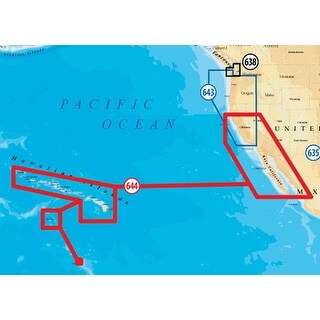 Navionics Platinum+ Lake Maps microSD/SD Card for California South-Baja & Hawaii