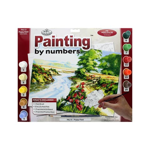 Pal13 royal paint by number adult lg poppy field