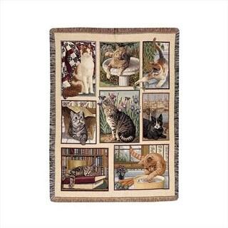 Kitty Corner Tapestry Throw Blanket Tapestry Throw Blanket Jacquard