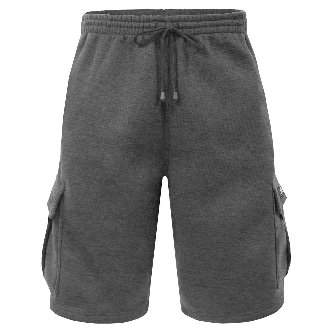 Asysst Mens Casual Fleece Cargo Sweat Shorts with Elastic Waist