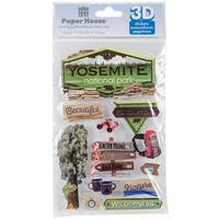 """Paper House 3D Stickers 4.5""""X7""""-Yosemite"""