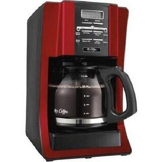 Mr. Coffee BVMC-SJX36RB 12 Cup Programmable Coffee Maker Red Black - Black/Red