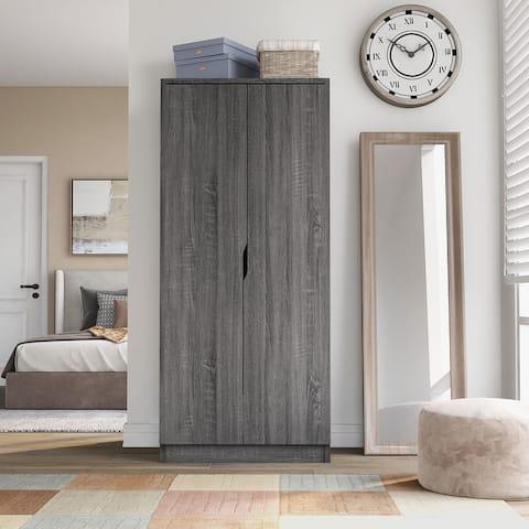 Furniture of America Vidal Modern 2-door Wardrobe Armoire