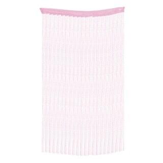 Door Straight Line Strip Tassel Divider Decoration String Curtain Pink