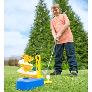 Link to HearthSong Golf Play Set w/ Ball Dispenser, Club, and 15 Golf Balls - One-size Similar Items in Outdoor Play