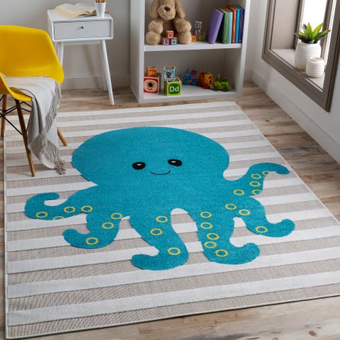Lemar Happy Octopus Area Rug