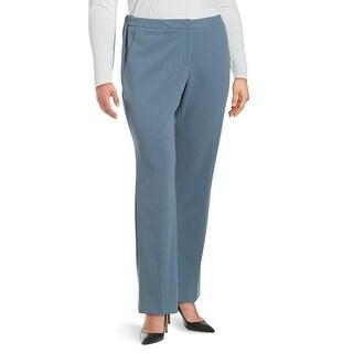 Calvin Klein Petite Elastic Waist Crepe Trousers Pants Dusty Shale